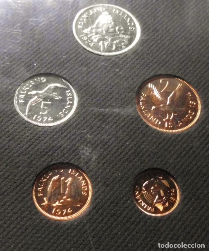 Monedas antiguas de América: FALKLAND ISLANDS 1974, ESTUCHE DE MONEDAS - Foto 2 - 191511743