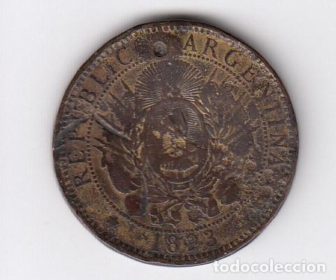 Monedas antiguas de América: moneda república argentina dos centavos libertad 1893 (cobre). mbc - Foto 2 - 191556410