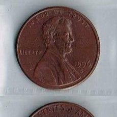 Monedas antiguas de América: ESTADOS UNIDOS, MONEDA DE 1 CÉNTIMO - 1996-D. Lote 191655537