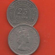 Monedas antiguas de América: BELIZE - 25 CENTS (VER AÑOS DISPONIBLES). Lote 191965472