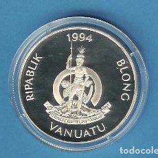 Monedas antiguas de América: PLATA-VANUATU. 50 VATU 1994. REINA MADRE 31,47 GRAMOS DE LEY 0,925. Lote 192636276