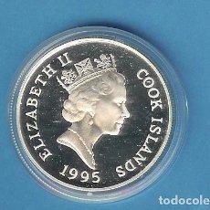 Monedas antiguas de América: PLATA-ISLAS COOK. 5 DOLLARS 1995. REINA MADRE 31,47 GRAMOS DE LEY 0,925. Lote 192636692
