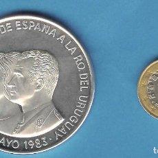 Monedas antiguas de América: PLATA-URUGUAY. 2000 PESOS 1983. VISITA DE LOS REYES. 65 GRAMOS DE LEY 0,900. Lote 192734617