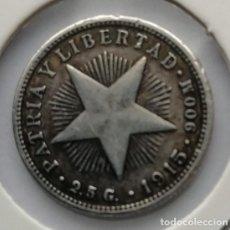 Monedas antiguas de América: MONEDA DE PLATA CUBA 1915. Lote 192956705