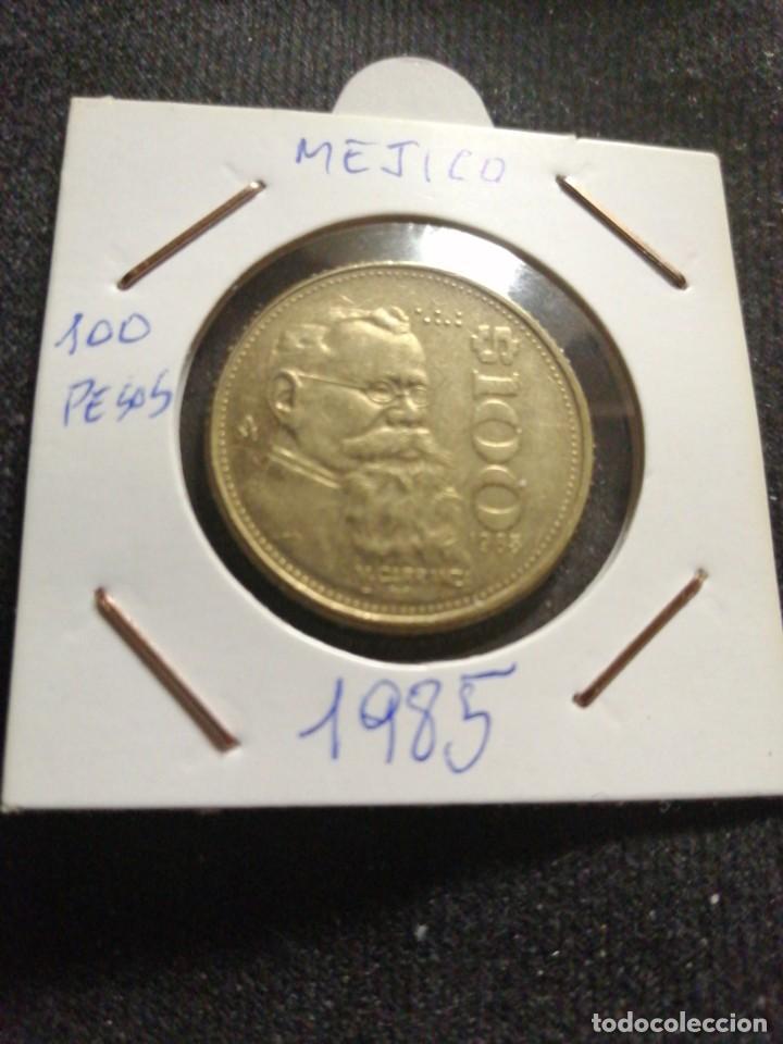 MONEDA 100 PESOS MEXICANOS 1985 (Numismática - Extranjeras - América)