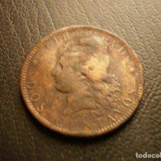 Monedas antiguas de América: ARGENTINA 2 CENTAVOS 1884. Lote 194247510