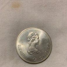 Monedas antiguas de América: CINCO DÓLARES CANADIENSES DE PLATA. Lote 194248026
