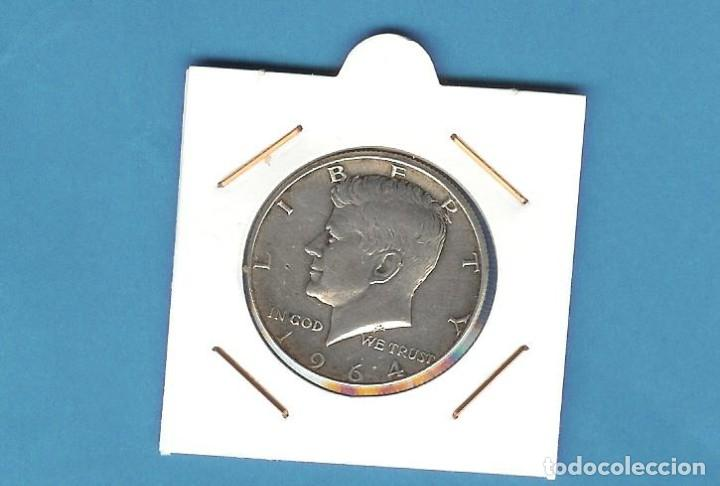 PLATA-USA 1/2 DOLLAR 1964. 12,5 GRAMOS DE LEY 0,900 (Numismática - Extranjeras - América)