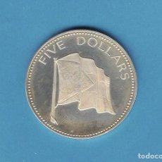 Monedas antiguas de América: PLATA-BAHAMAS. 5 DOLLARS 1974. 42,12 GRAMOS DE LEY 0,925. Lote 194369665