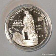 Monedas antiguas de América: CUBA - 10 PESOS 1991 - ENCUENTRO DE DOS MUNDOS - PLATA - LOT. 2305. Lote 194510913