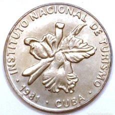 Monedas antiguas de América: MONEDA DE CUBA 25 CENTAVOS 1981. Lote 194639696