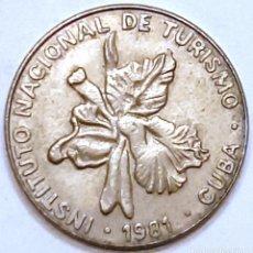 Monedas antiguas de América: MONEDA DE CUBA 25 CENTAVOS 1981. Lote 194639735