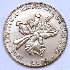 Monedas antiguas de América: MONEDA DE CUBA 25 CENTAVOS 1981. Lote 194639766