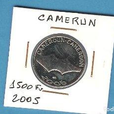 Monedas antiguas de América: CAMERÚN. 1500 FRANCS CFA. 2005. ELEFANTE. Lote 194676922