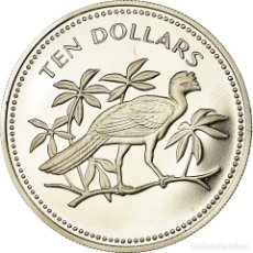 Monedas antiguas de América: MONEDA, BELICE, 10 DOLLARS, 1974, FRANKLIN MINT, PROOF, FDC, PLATA, KM:45A. Lote 194684975