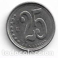 Monedas antiguas de América: VENEZUELA,25 CENTIMOS 2009.. Lote 194732393