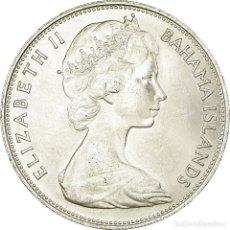 Monedas antiguas de América: MONEDA, BAHAMAS, ELIZABETH II, 5 DOLLARS, 1966, MBC+, PLATA, KM:10. Lote 194733121