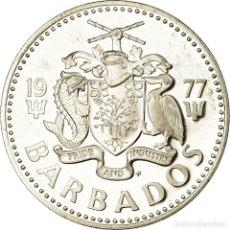 Monedas antiguas de América: MONEDA, BARBADOS, 5 DOLLARS, 1977, FRANKLIN MINT, PROOF, SC, PLATA, KM:16A. Lote 194737318