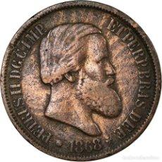 Monedas antiguas de América: MONEDA, BRASIL, PEDRO II, 20 REIS, 1868, MBC, BRONCE, KM:474. Lote 194737903