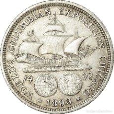 Monedas antiguas de América: MONEDA, ESTADOS UNIDOS, HALF DOLLAR, 1893, U.S. MINT, PHILADELPHIA, MBC+, PLATA. Lote 194740500