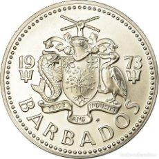 Monedas antiguas de América: MONEDA, BARBADOS, 5 DOLLARS, 1973, FRANKLIN MINT, PROOF, SC, PLATA, KM:16A. Lote 194740506
