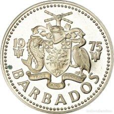 Monedas antiguas de América: MONEDA, BARBADOS, 5 DOLLARS, 1975, FRANKLIN MINT, SC, PLATA, KM:16A. Lote 194741658
