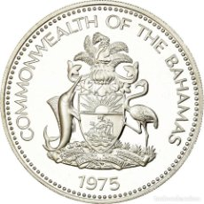 Monedas antiguas de América: MONEDA, BAHAMAS, ELIZABETH II, 10 DOLLARS, 1975, FRANKLIN MINT, U.S.A., PROOF. Lote 194742030