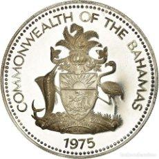 Monedas antiguas de América: MONEDA, BAHAMAS, ELIZABETH II, 5 DOLLARS, 1975, FRANKLIN MINT, U.S.A., PROOF. Lote 194742541
