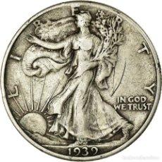 Monedas antiguas de América: MONEDA, ESTADOS UNIDOS, WALKING LIBERTY HALF DOLLAR, HALF DOLLAR, 1939, U.S.. Lote 194743405