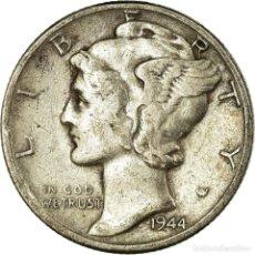 Monedas antiguas de América: MONEDA, ESTADOS UNIDOS, MERCURY DIME, DIME, 1944, U.S. MINT, PHILADELPHIA, BC+. Lote 194743978