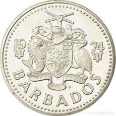 Monedas antiguas de América: MONEDA, BARBADOS, 10 DOLLARS, 1974, FRANKLIN MINT, PROOF, SC, PLATA, KM:17A. Lote 194744290