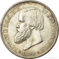 Monedas antiguas de América: MONEDA, BRASIL, PEDRO II, 2000 REIS, 1889, EBC, PLATA, KM:485. Lote 194744332