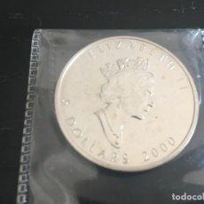 Monedas antiguas de América: 5 DÓLARES CANADÁ - ONZA PLATA PURA 2000 SIN CIRCULAR. Lote 194944753