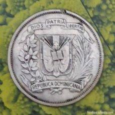 Monedas antiguas de América: 1/2 PESO REPÚBLICA DOMINICANA 1951 PLATA KM 21 BELLA MONEDA. Lote 194957300