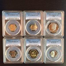 Monedas antiguas de América: LOTE 6 MONEDAS ESTADOS UNIDOS - CERTIFICADAS Y ENCAPSULADAS PCGS - DOLARES. Lote 194962836