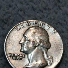 Monedas antiguas de América: UN CUARTO DÓLAR 1957 PLATA. Lote 195137712