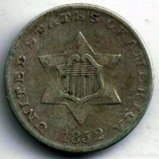 Monedas antiguas de América: USA. 3 CENTS 1852. PLATA.. Lote 195146456