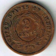Monedas antiguas de América: USA. 2 CENTS 1864.. Lote 195146651