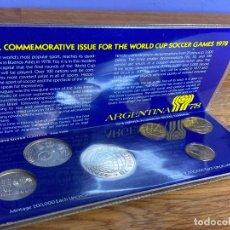 Monedas antiguas de América: JUEGO COMPLETO DE 6 MONEDAS DEL MUNDIAL DE ARGENTINA 78. 1978. SIN CIRCULAR. PLATA 900. SILVER.. Lote 195150441