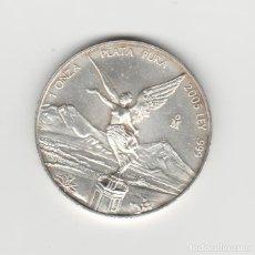 Monedas antiguas de América: MEXICO- 1 ONZA DE PLATA 999-AÑO 2005-PROF. Lote 195237175