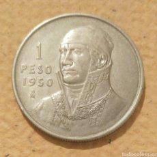 Monedas antiguas de América: MEXICO. 1 PESO 1950. PLATA.. Lote 195242096