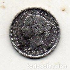 Monedas antiguas de América: CANADÁ. 10 CÉNTIMOS. AÑO 1886. PLATA. ESCASA. Lote 195278475
