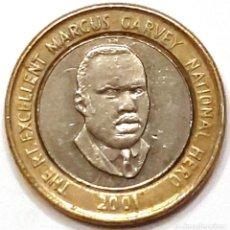 Monedas antiguas de América: JAMAICA MONEDA 20 DOLARES 2001. Lote 195341032