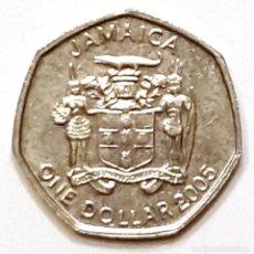 Monedas antiguas de América: JAMAICA MONEDA 1 DOLAR 2005. Lote 195341270