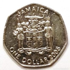 Monedas antiguas de América: JAMAICA MONEDA 1 DOLAR 2005. Lote 195341298