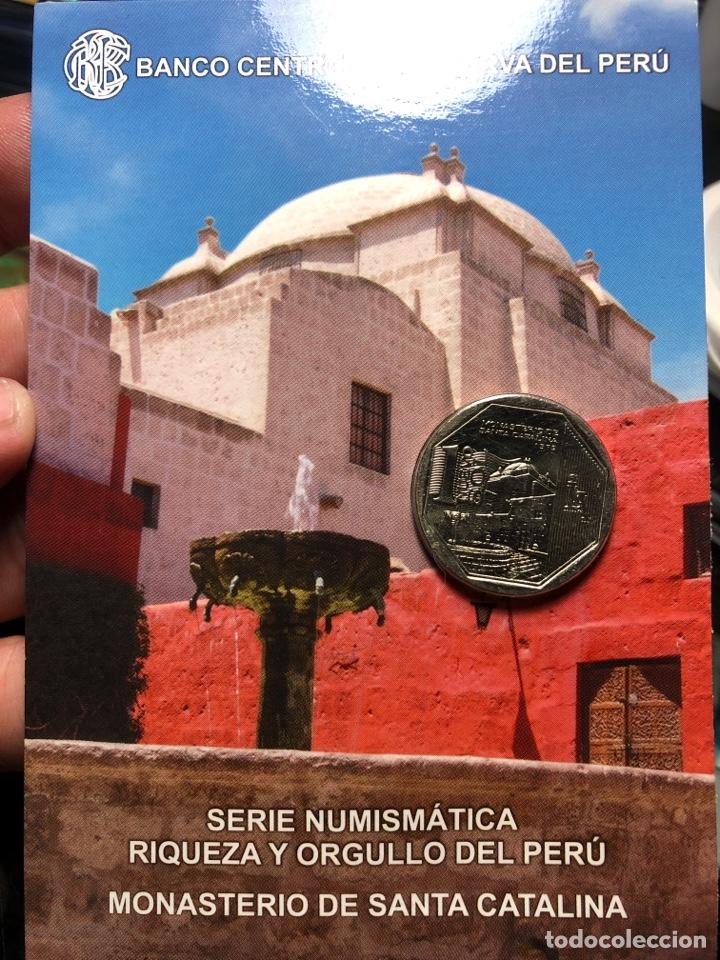 PERU CARPETA CONMEMORATIVA MONASTERIO DE SANTA CATALINA 1 SOL 2011 UNC (Numismática - Extranjeras - América)