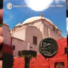 Monedas antiguas de América: PERU CARPETA CONMEMORATIVA MONASTERIO DE SANTA CATALINA 1 SOL 2011 UNC. Lote 195344823
