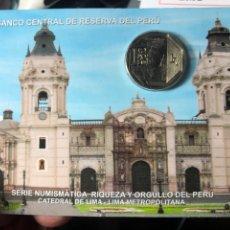 Monedas antiguas de América: PERU CARPETA CONMEMORATIVA CATEDRAL DE LIMA 1 SOL 2011 UNC. Lote 195344875