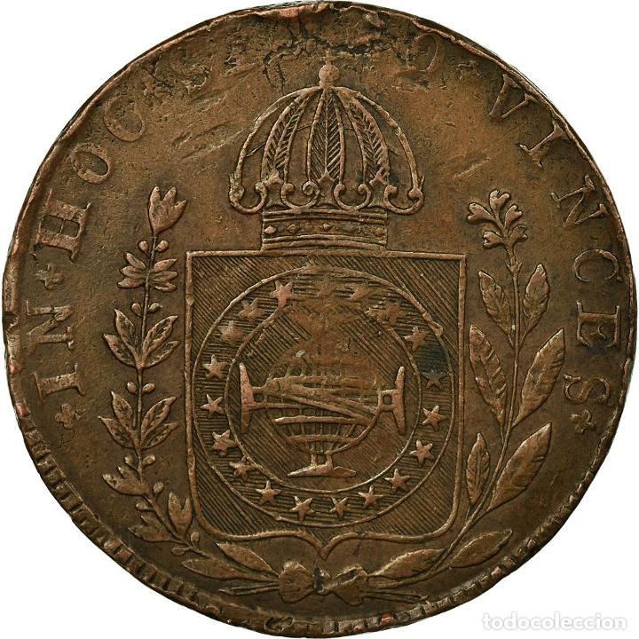 MONEDA, BRASIL, PEDRO I, 80 REIS, 1829, BAHIA, BC+, COBRE, KM:366.2 (Numismática - Extranjeras - América)