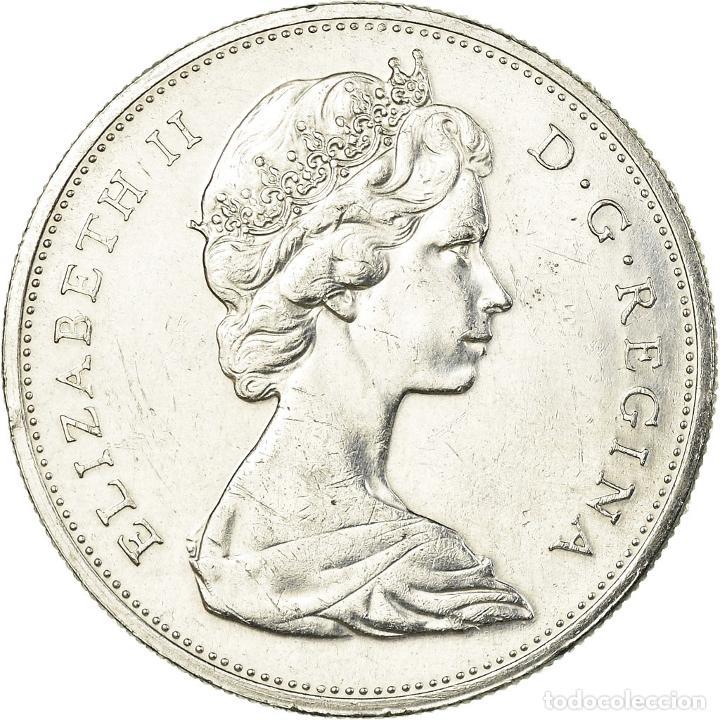 MONEDA, CANADÁ, ELIZABETH II, DOLLAR, 1965, ROYAL CANADIAN MINT, OTTAWA, MBC (Numismática - Extranjeras - América)